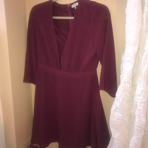 Maroon Dress- Tobi